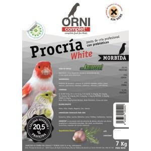 Orni complet procria white 7 kilos, 4 kilos, 1 kilos legazin 20.5 proteinas mas ajo mas legazin morbida