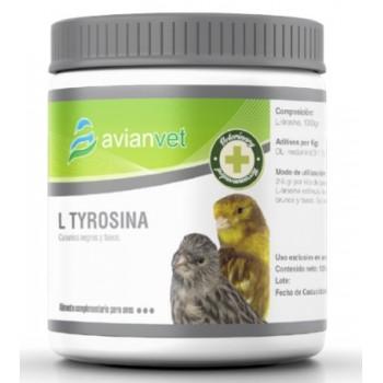 L-Tyrosina Avianvet es un suplemento alimenticio para estimular la melanina feomelianica y eumelanico 125 Gramos 250 y 500 Gramos.