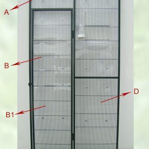 Panel de malla c/puerta para voladeros