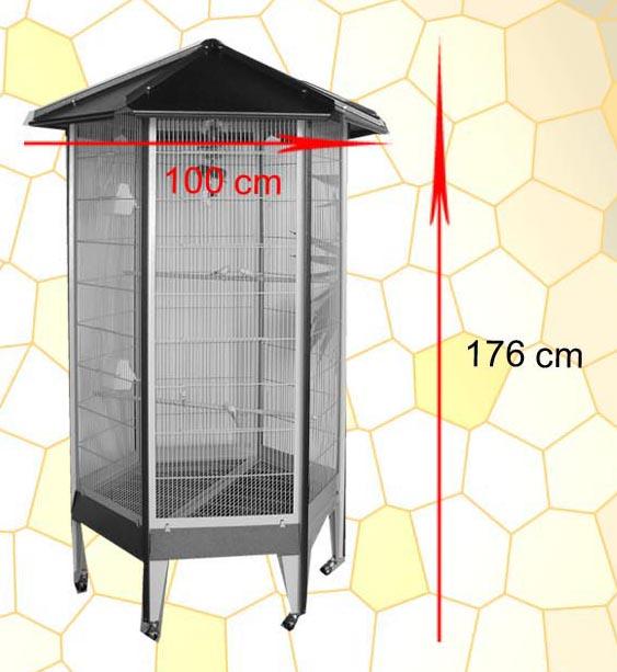 Productos 2 de 10 de la categoría Jaula Pajarera para Aves Jaula Pajarera Paris 176cm