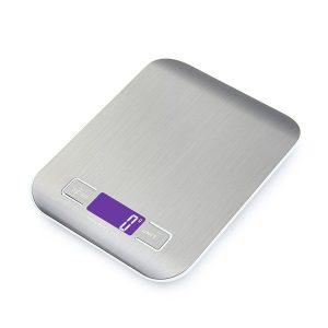 Digital Báscula con pantalla LCD para Cocina de Acero Inoxidable, 5kg