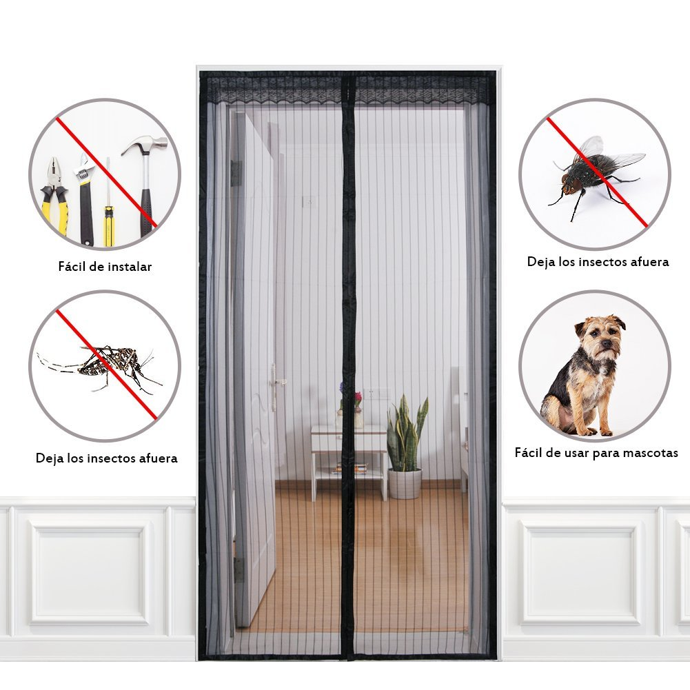 mosquitera para puerta cortina magn tica con cinta de