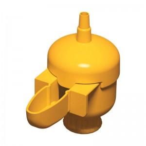bebedero pajaros mini con bolla, copele, amarillo,