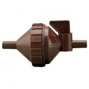 filtro de agua con llave de paso