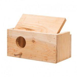 nidos-de-madera-para pequeños loros y psitacidas