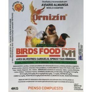M1 ornizin cubo 4 kgrs. silvestre y fauna europea.