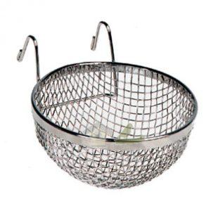 portanido pequeño cesta metal cardenalito, jilguero,