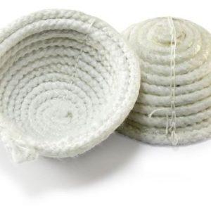 nido de esparto blanco de alta resistencia hecho a mano.