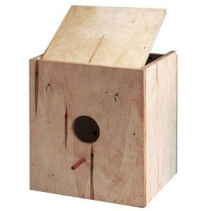 nidos-de-madera-para- exoticos y pequeñas y mediadas psitacidas.