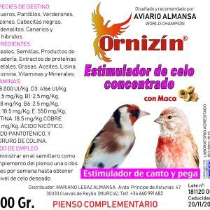 ESTIMULADOR DE CELO concetrado de celo ornizin 200 gramos