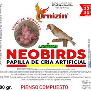 NEOBIRDS papilla para la cria artificial de aves ORNIZIN
