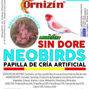 NEOBIRDS SIN DORE 500 GR papilla ornizin