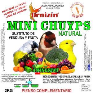 Mini Chuyps naturales Ornizin 2Kgrs sustituto de verdura y fruta natural.