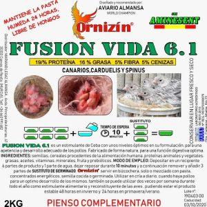 Fusion Vida 6.1. 4 kilos 2 kilos Ornizin