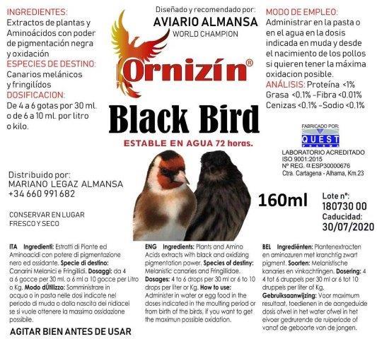 BLACK BIRD ornizin potenciador pigmentos negros