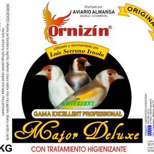 MAJOR DE DELUXE Ornizin 15 KGRs 8 KGrs., 4 KGrs. ornizin especial para jilgueros major luis iraola
