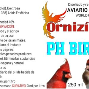 agua-bird-250ml acidificante del agua ornizin