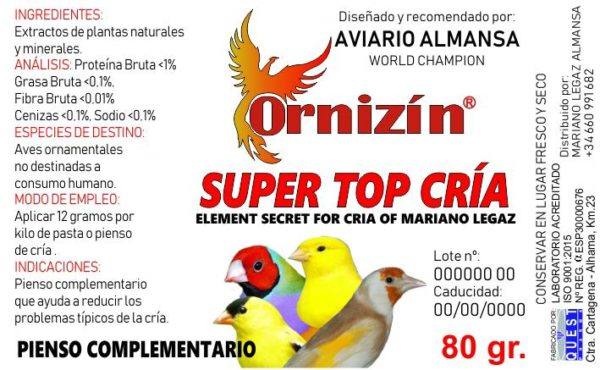 super top cria sustituto natural del antibiotico para aves.