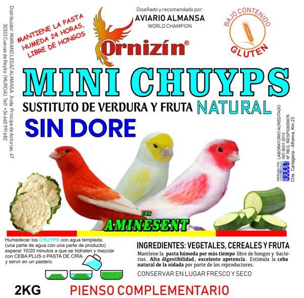 Mini chuyps ornizin sustituto de verdura y fruta natural sin DORE