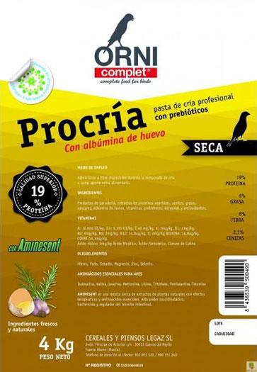 ornicomplet procria seca al huevo legazin 4 kilos 1 kilo