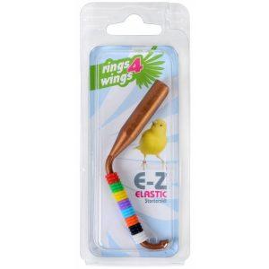 Anilla 3,00 mm elastica de colores, estirable con calzador Rings Wings, con varios colores y calzador facil especial canarios, jilgueros, major, verderones, etc.