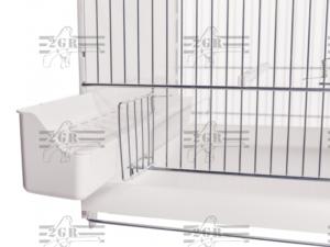 Voladera 120cm 2GR Art. 403 Blanca Desmontable y Comunicable (Trasera abierta)