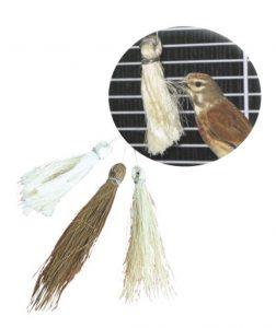 Mechones antiestres, picaje para jaulas o voladeras, entretenimiento para las aves SISAL FIB
